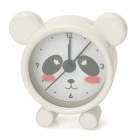 Cute Panda Shape Mini Desktop Clock - White + Black + Red (1 x LR44)