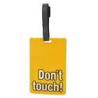 Cute Square Shape Don't Touch Rubber Luggage / Traffic Card Case - Yellow