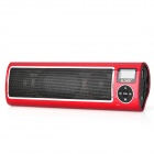 SEE ME HERE LV520-III Portable 1'' LCD Display USB aufladbare Stereo Speaker-Red + Black + Silver