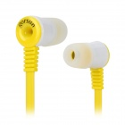 Gorsun GS-A356 Stylish Stereo In Ear Earphone w/ Earbuds - Yellow (126CM)