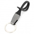 SHU Japan Korean Style 45# Alloy Waist Hang Car Keychain w/ Ring - Black