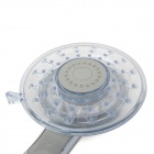 0803 agua a temperatura controlada 5-LED Head Light RGB ducha de mano - Plata