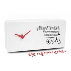 Creative Message Board Memo Clock Alarm Clock - White (1 x AA)