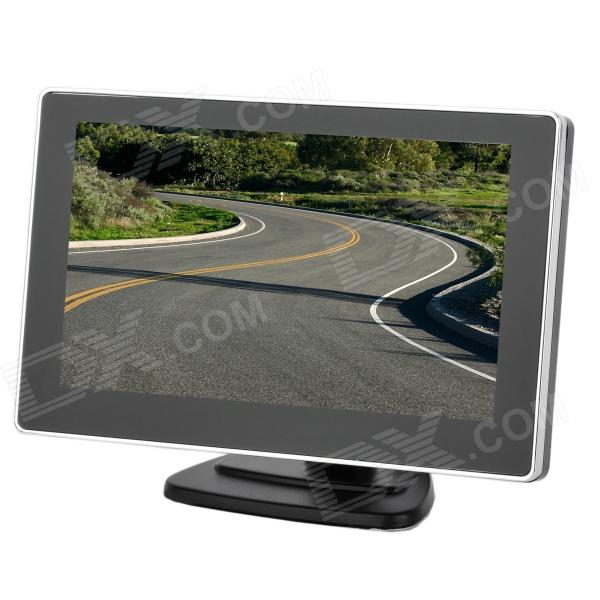 4.3 TFT LCD Monitor for Car Vehicle - Black + Silver (480 x 272 / DC 12V) - DXCar Monitors<br>Model N/A Quantity 1 piece(s) Material Plastic Color Black + silver Install Style Suction cup Display Mode .6729166667 Screen Size 4.3 Detachable Panel No Touch Screen No Screen Resolution 480 x 272 pixels Brightness Control No OSD Languages No Video System NTSC Features Display Interface Port AV IN Headphone Jack 0 mm External Memory 0 GB Video Input 2 channel Power Supply 12 V Power Consumption 3 W Operation Temperature -10C~50 ? Storage Temperature -20C~60 ? Other Features Support car DVD VCD camera and other video devices; Can absorb in the windscreen easy to install detachable and interchangeable stand / sucker; 2-CH video inputs white cable connects to car rear view camera yellow one to DVD or VCD; When reversing screen auto switch to backup picture; Without a menu button the factory has been set in the best picture Packing List 1 x Car monitor 1 x Power supply cable (110cm) 2 x Stands 1 x English user manual<br>