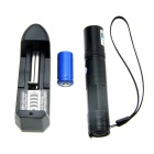 850 5mW 405nm Purple Laser Pointer w/ 16340 Battery / Charger - Black