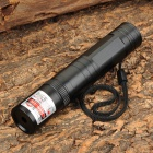 850 5mW Red Laser Pointer Flashlight w/ 2-Flat-Pin Plug - Black (1 x 16340 / 1 x CR123A)