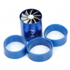 YB022701 Aluminum Alloy Power Launcher Double Turbine - Blue + Silver