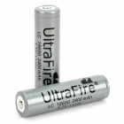 UltraFire Protected 18650 3.7V 2400mAh Lithium Batteries (2-Pack Grey)