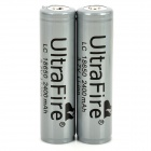 UltraFire Protected 18650 3.7V 2400mAh Lithium Batteries (2PCS)