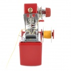 999 Multifunction Mini Pocket Manual Sewing Machine - Red + Silver