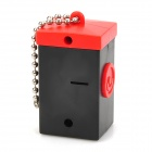 Mini Camera Style White Light Plastic Keychain - Red + Black + Silver (3 x AG13)