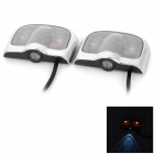 3W 120lm 1-LED RGB Car Door / Laser / Blinklicht Lampe - Silber (2 PCS / DC 12 ~ 24V)