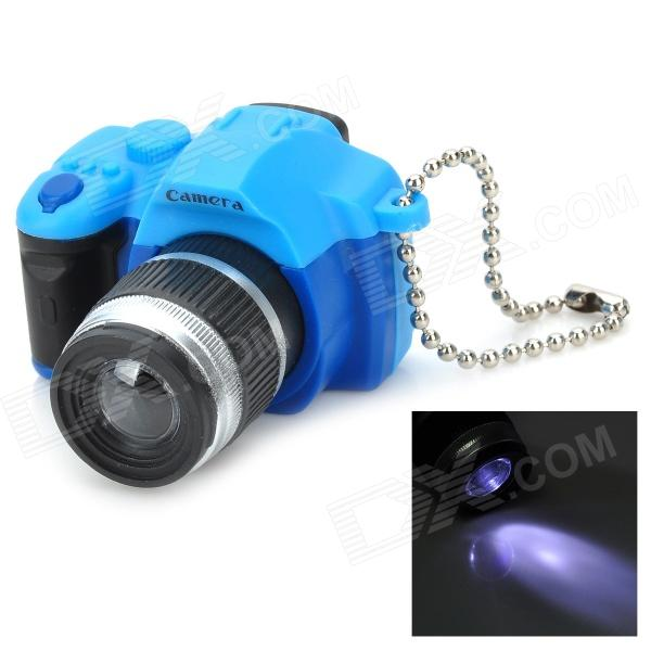 все цены на Mini DSLR Camera Style White Light LED Plastic Keychain - Blue + Black + Silver (3 x AG13) онлайн