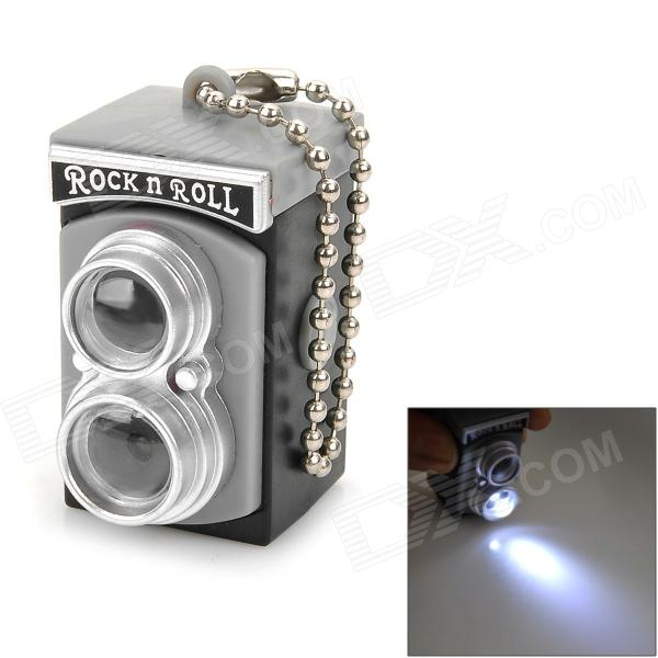 все цены на Mini Camera Style White Light Plastic Keychain - Grey + Black + Silver (3 x AG13) онлайн