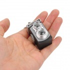 Mini Camera Style White Light Plastic Keychain - Grey + Black + Silver (3 x AG13)
