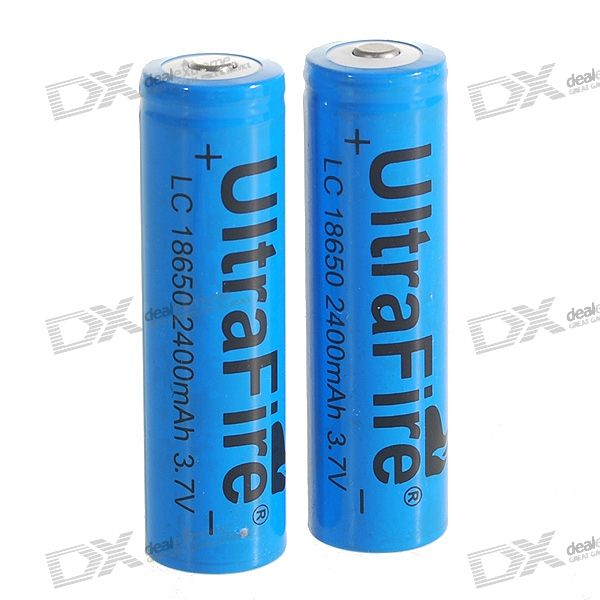 UltraFire 18650 3.7V 1800mAh Lithium Batteries (2-Pack Blue)