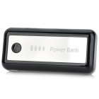 Portable External 5600mAh Power Bank for iPhone 4 / 4S / 5 / Samsung / HTC - Black + Silver