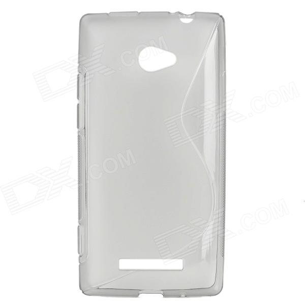 S Shape Protective TPU Back Case for HTC 8X - Grey стоимость