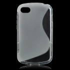 """S"" Style Protective TPU Back Case for BlackBerry Q10 - Translucent White"