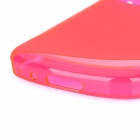 """S"" Style Protective TPU Back Case for BlackBerry Q10 - Translucent Deep Pink"