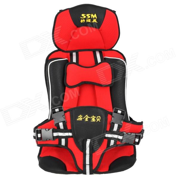 Portable Comfortable Baby Car Safety Cotton Cushion - Red + Black + White fashionable soft cotton hat for 0 3 years old baby navy