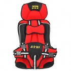 Portable Comfortable Baby Car Safety Cotton Cushion - Red + Black + White