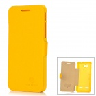 NILLKIN Fresh Protective Flip-Open Artificial Leather + PC Case w/ Magnet for Huawei U8950D - Yellow