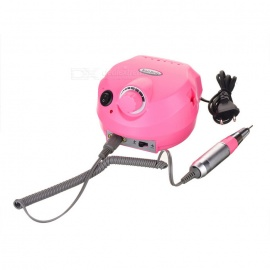 Aluminum Alloy Electric Nail Drill Polisher / File Manicure Pedicure Kit - Pink
