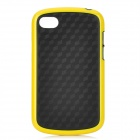 Stylish Protective Soft TPU Back Case for BlackBerry Q10 - Black + Yellow