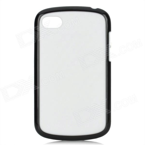 Protective TPU Back Case for BlackBerry Q10 - White + Black ботинки marco tozzi полуботинки
