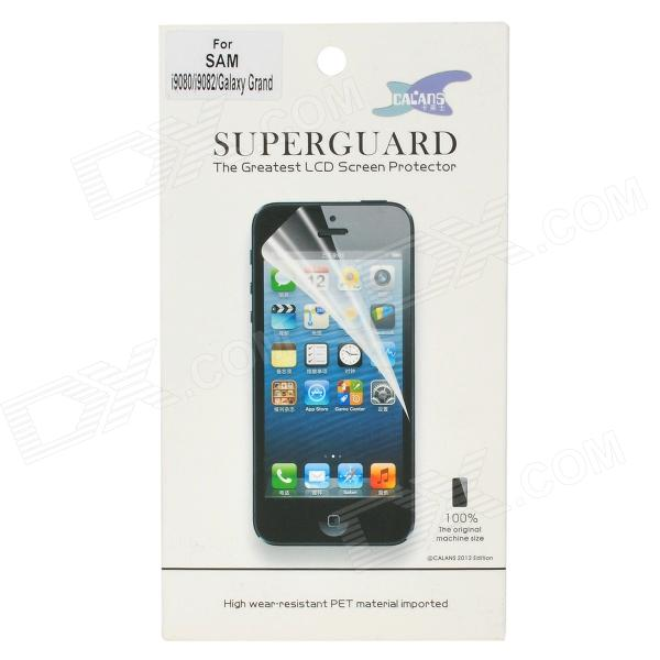 Protective PET Clear Screen Film Guard w/ Cleaning Cloth for Samsung i9082 - Transparent Corona Продажа товаров