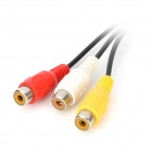DC3.5 to 3RCA Audio Cable - Black + White + Red + Yellow (2PCS)