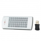 Feltouch 2.4GHz Wireless Keyboard Air Mouse w/ Touch Pad - White + Black (3 x AA)