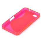 """S"" Style Protective TPU Back Case for BlackBerry Z10 - Translucent Deep Pink"