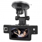 "KVD X9000 2.7"" TFT Dual-Camera 5.0M 720P HD 120 Degree Car Camcorder w/ 2-IR LED / TF / HDMI - Black"