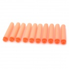 Beiduoli BL12201 Sponge Suction Cup Bullet for Kids - Orange (10 PCS)