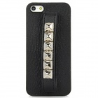 Cool Rivet Studded Style Protective Back Case for Iphone 5 - Black