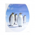 1028 Penguin Pattern Self-Adhesive Toilet Seat Cover Decoration Sticker - Multicolored