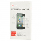 GGS Protective Toughened Glass Screen Guard + Back Film + Key Sticker for iPhone 4 / 4S - Black