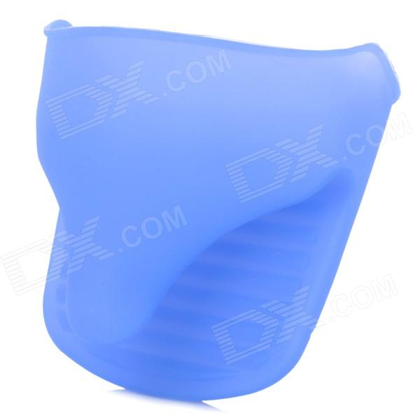 YJ3-115 Heat Shielding Soft Rubber Microwave Glove - Blue 30x40mm 12v 9 6w heat rubber polyimide electric film soft performance flexible fast preheating for automobile oil heating pads