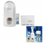 Olet A380 Automatic Toothpaste Squeezer w/ Toothbrush Holder / Hourglass - White