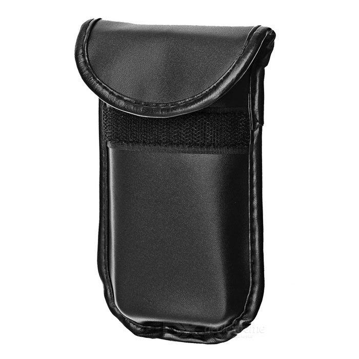 Cell Phone Signal Shield/Block Soft PU Leather Pouch for Iphone 4 / 4S - Black