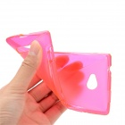 Protective TPU Back Case for HTC 8X - Translucent Deep Pink