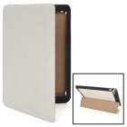 Protective PU Leather Case for iPad Mini - White + Black
