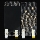 Protective Glossy Screen Protector + 3D Tree Back Sticker for Iphone 5 - Golden + Transparent