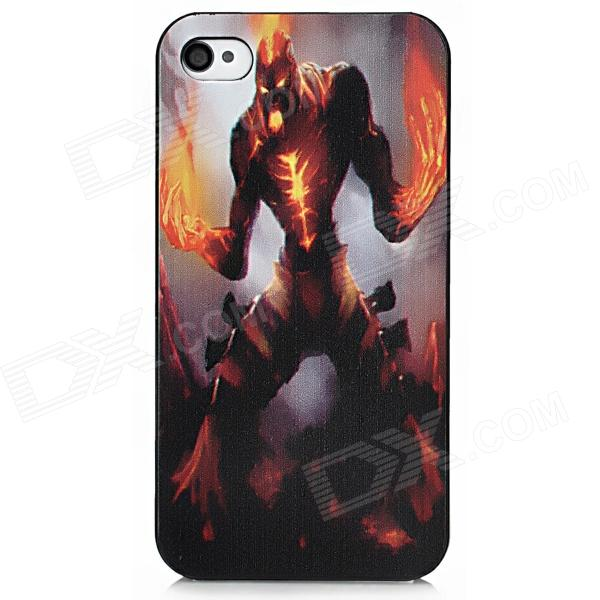 Protective Flame Giant Embossment PC Case for Iphone 4 / 4S - Colorful sahar cases чехол цветочный принт с леопапдом iphone 4 4s case