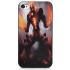 Protective Flame Giant Embossment PC Case for Iphone 4 / 4S - Colorful