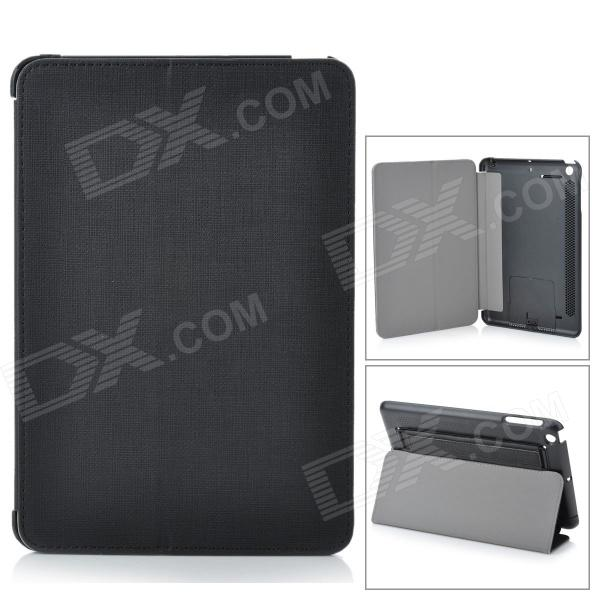 Handheld Protective PU Leather Case for Ipad MINI - BlackIpad Cases<br>ModelsIpadQuantity1Form  ColorBlackCompatible ModelsOthersDesignOthersTypeLeather Cases,OthersAuto Wake-up / SleepYesOther FeaturesHandheldPacking List<br>