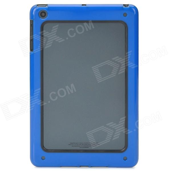 Stylish Protective Bumper Frame for Ipad MINI - Dark Blue + Black stylish protective bumper frame case for iphone 4 4s dark blue