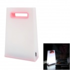 Creative Handbag Style Warm White Light LED USB Rechargeable Table Light - White + Pink